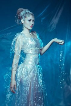 Modern Fairytale fashion fantasy / karen cox. ♔ once upon a time. Snow Queen Gown