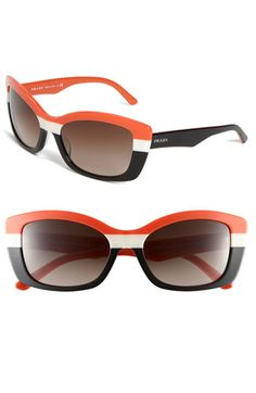 Orange Prada 'Postcards' Sunglasses. Would most likely look ridiculous on me... but what the heck.