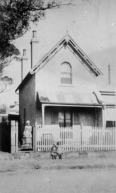 Belmore St, Enmore in 🌹 ** Sydney Australia, Western Australia, Old Photos, Vintage Photos, Australian Road Trip, Cute Cottage, Historic Architecture, As Time Goes By, Slums