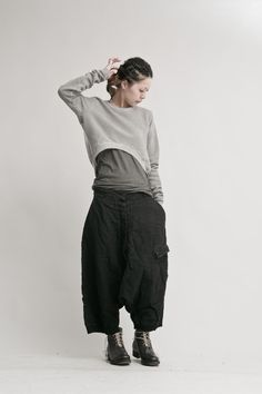 Sarouel Pants, Harem Pants Outfit, Boho Pants, Trousers, Steampunk Fashion, Gothic Fashion, Emo Fashion, Damir Doma, Cyberpunk Fashion