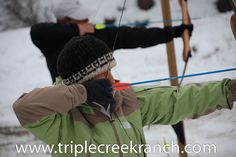 Maybe your Montana winter adventure will include Archery at Triple Creek Ranch.