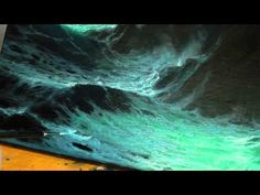 HOW TO PAINT WAVES AND FOAM, PART 1 by Alan Kingwell - YouTube