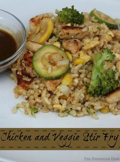 The Freshman Cook: Chicken and Veggie Stir Fry/#WeekdaySupper