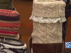 """Click here to see a Video tutorial on """"How to make boot socks out of old sweaters"""" http://www.divaofdiy.com"""