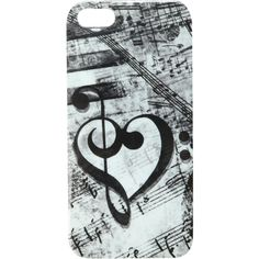 Music Clef Heart iPhone 5 Case | Hot Topic found on Polyvore