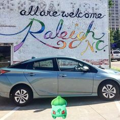 Good morning everyone! #triprius Welcome to #Raleigh We're glad you're here. There's something for everyone including #Pokemon players. Check out this #mural on the side of @poolesdiner #toyota #art #downtown #snapchat #letsgo #visitRaleigh @visitraleigh @visitnc