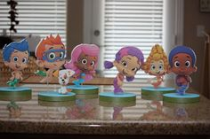 Bubble Guppies Birthday Party Centerpiece. $9.50, via Etsy.  So cute my twin sisters would love this