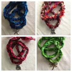 Gorgeous Braided *Sari Ribbon Necklaces* by Stampped on Etsy, $8.00