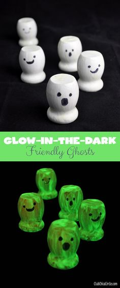 DIY Glow-in-the-Dark Friendly Ghosts   My Crafty Spot - When Life Gets Creative  #giftideas #gifts #halloween #crafts