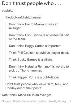 Also don't trust people who think Loki invaded Earth of his own free will. He was hijacked and you know it.