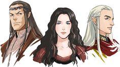 Elrond, Arwen, Glorfindel (?) - by dakkun39 <--- It's Elrond, Arwen, and Haldir. You can remember Glorfindel, who doesn't die, but you can't remember Haldir, who has an ending so sad, it could make Chuck Norris cry?