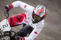 July 11 - Cycling BMX - Men's - Semifinals. Tory Nyhaug rides in the semifinal at the BMX at the 2015 Pan American Games in Toronto, Canada July 11, 2015. AFP PHOTO/GEOFF ROBINS