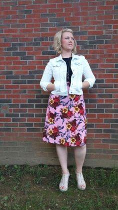 LuLaRoe Azure skirt.  Use ANNIEMCCAMMON at lularoe.com/shop for free shipping. #lularoe #azureskirt