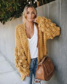 Oversize knit cardig
