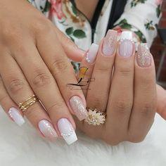 Bridal Nails, Creative Nails, Pretty Nails, You Nailed It, Nail Designs, Wedding Day, Hair Beauty, Make Up, Nail Art