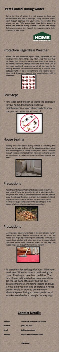 Here some following organic tips and tricks by which you can easily get rid of home pests without spending a single penny. Home pest control is serving in the areas of South Carolina with affordable and high quality service. For more information visit http://www.homepest.com/