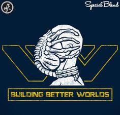 Building Better Worlds - ALIEN Weyland Yutani Facehugger - From Another Fine Tee.