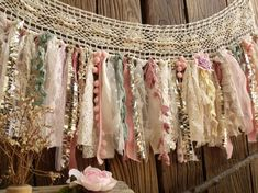 Shabby Boho Chic Blush Pink GOLD Birthday Banner Nursery Valance Crochet Lace Sparkle Sequin Garland Curtain Crib Garland Window Treatment - Home Dekor Shabby Chic Garland, Decoration Shabby, Shabby Chic Fabric, Shabby Chic Banners, Shabby Chic Curtains, Boho Decor, Decorations, Shabby Chic Design, Shabby Chic Homes