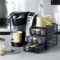 Coffee storage station for coffee bars in home, office | Solutions