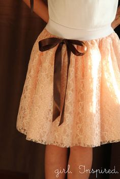 Great lace skirt tutorial from the girl inspired