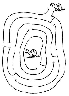 Dino mazes - this site has lots of printable mazes, good easy ones too