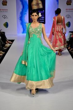 sea green anarkali--love the color!