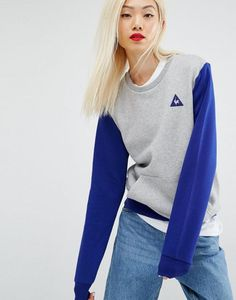 a67a4cb002 Le Coq Sportif Color Block Crew Sweatshirt at asos.com