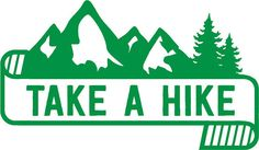 Take a Hike: Cool Mountain Banner Hiking Car Decal by MarkedCo