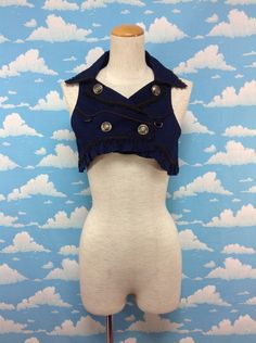 Awilda Short Vest in Navy from Alice and the Pirates - Lolita Desu
