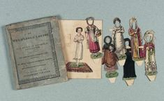 "Paper Dolls, 1790-1940 - The Collection of Shirley Fischer: 5 Circa 1820,Dutch Paper Doll Book ""Louize"" by J. Guykens"