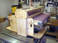 Another homemade drum sander, inspired by the one from ShopNotes magazine.