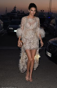 Look luxe in a nude lace dress like Kendall #DailyMail  Click right to buy now!