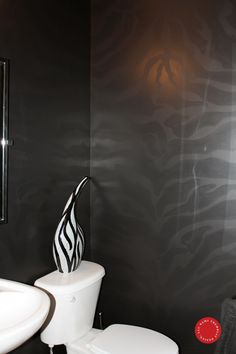 Two tone idea. Zebra Bathroom, Bathroom Wall, Winter House, Bathroom Renovations, Zebra Print, Murals, Painted Furniture, Kids Room, Walls