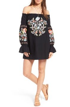 Women Sexy Floral Print Dress 2017 Summer Off the Shoulder Sexy Party Vestidos Robe Mujer Vintage Black Embroidered Shirt Dress Boho Fashion, Fashion Outfits, Womens Fashion, Spring Fashion, Casual Outfits, Afro, Grunge, Normcore, Mode Boho