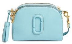 Marc Jacobs Small Shutter Leather Camera Bag - Blue