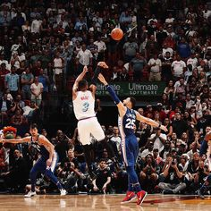 Image may contain: 1 person, playing a sport, crowd, basketball court and outdoor Justise Winslow, Nba Miami Heat, Nba Pictures, Dwyane Wade, Basketball Art, African American Art, Nba Players, The Flash, Philadelphia