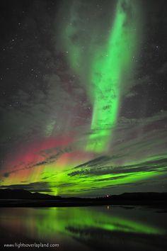 Auroras Boreales en Suecia.-