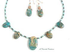 Beaded Jewelry Set Gemstone Necklace Set Semiprecious jewelry