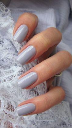 Grey winter nails - butter London Muggins #nails #nailart