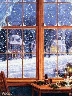 Christmas time by Randy van Beek Christmas Scenes, Christmas Past, Country Christmas, Christmas Pictures, All Things Christmas, Winter Christmas, Winter Snow, Xmas, Christmas Windows