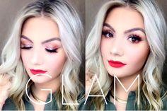 Blonde Bombshell Full Glam Makeup Tutorial | Emilie Paige Xo Koko Lashes, Eyelashes, Kylie Jenner Makeup Tutorial, Learn Makeup, Gel Liner, Glam Makeup, Makeup Tutorials, Liquid Lipstick, Bombshells