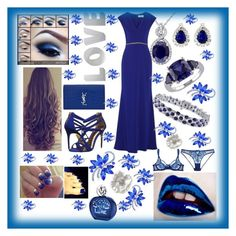 """Royal Blue"" by mcronald-denise ❤ liked on Polyvore featuring OPI, Bobbi Brown Cosmetics, Miadora, Yves Saint Laurent, Ted Baker, Badgley Mischka, L'Agent By Agent Provocateur and Sisley"
