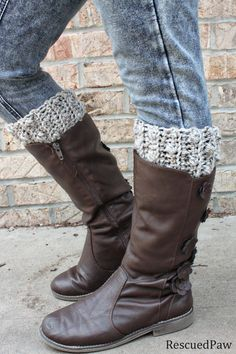 Gabrielle Crochet Boot Cuffs {FREE PATTERN} - Rescued Paw Designs