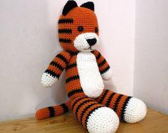 Hobbes Tiger, Hobbsy, Crochet Hobbes 20 inches