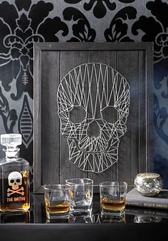 Look closely at our Skull String Art, if you dare, and note the startling level of skill that is required to create such an intricate and frightful form.
