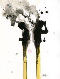 LOVE BURNS II Fine Art Print by Lora Zombie