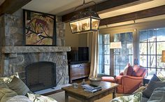 Old World Lakehouse - rustic - family room - other metro - Wright Design