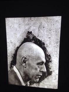 """Arnold Newman """"Jean Dubuffet 1956"""" Photography 35mm Art Slide"""
