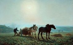 Horses in a Field  Jules Léon Montigny (1847–1899)  Bradford Museums and Galleries