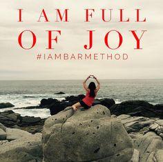 Joy is Bar Method #iambarmethod